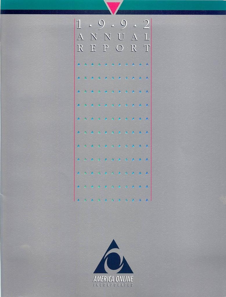 1992 AOL Annual Report
