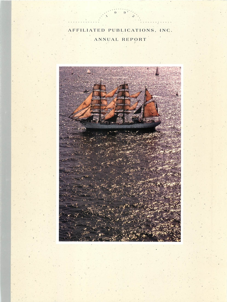 Affiliated Publications (Boston Globe) Annual Report